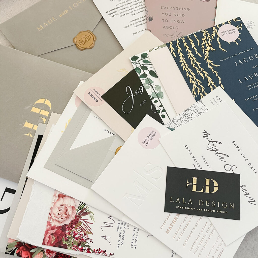Stationery Sample Pack 2021 - Lala Design Perth WA 03