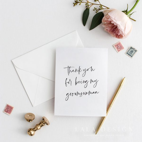 Thank you for being my grooms woman | Bridal Party Cards - Perth WA
