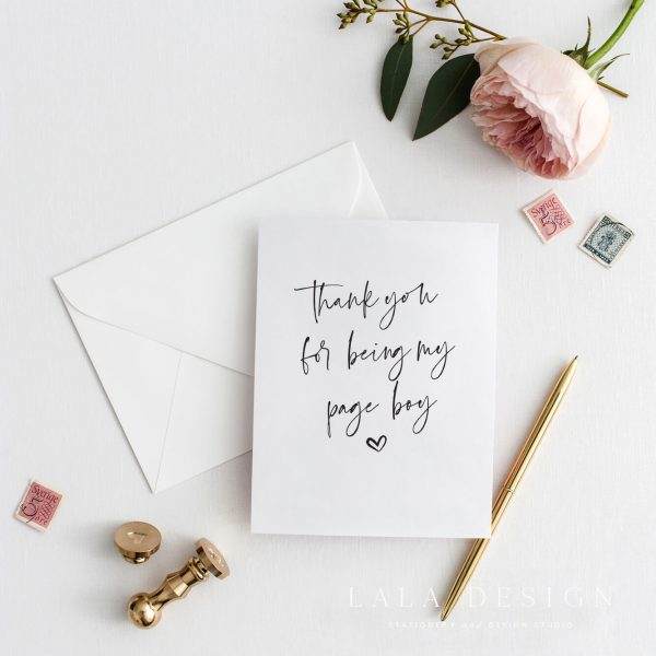 Thank you for being my page boy | Bridal party cards & attendant cards - Perth WA