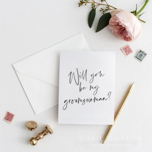 Will you be my groomswoman? | Bridal party cards - Perth WA