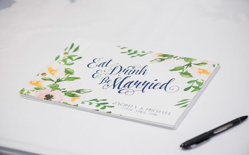 Jacinta_Michael_Floral-Classic-Wedding_ guestbook - lala design