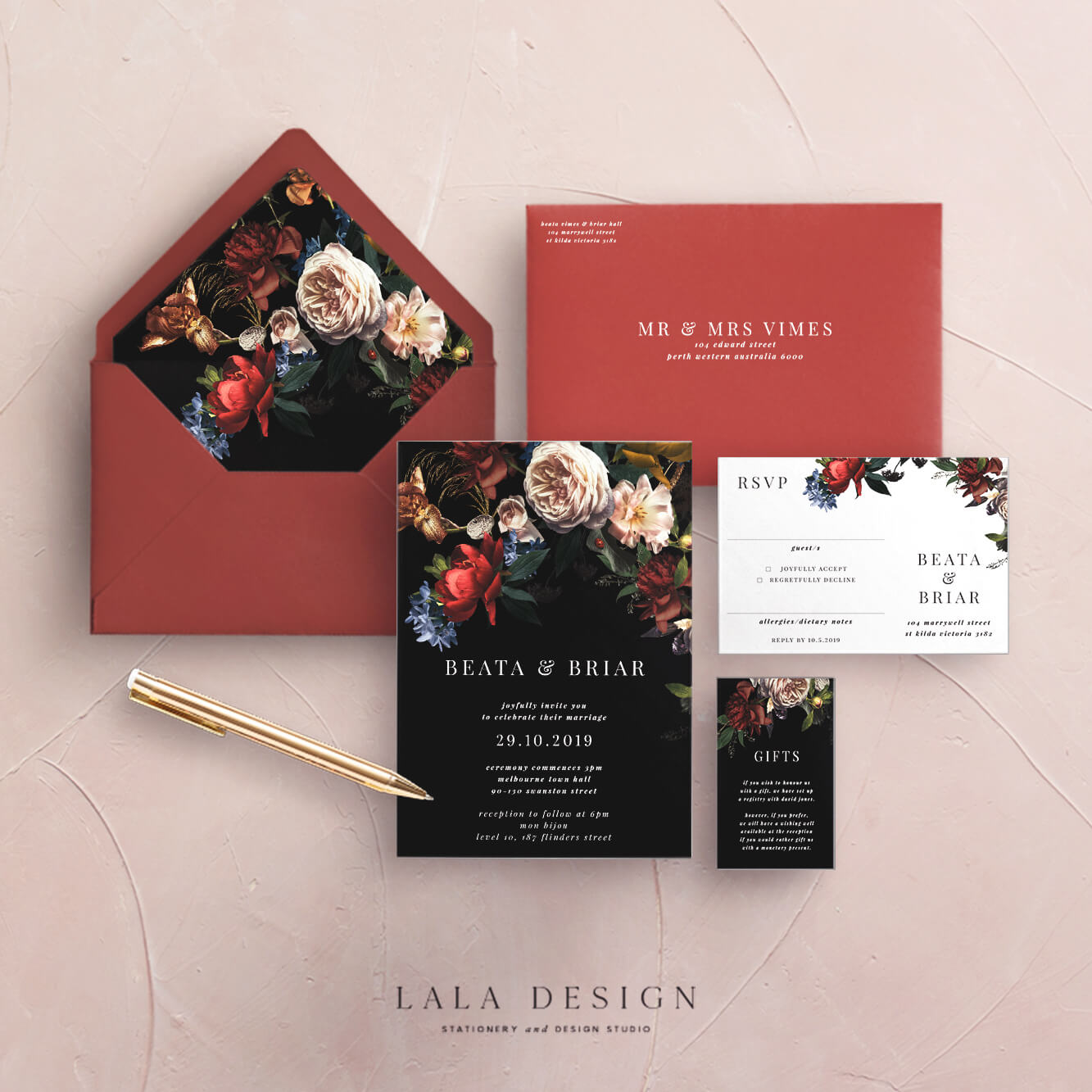 Wedding stationery full set | Ophelia - Perth WA
