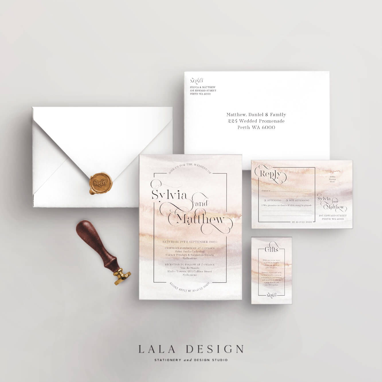 Wedding stationery full set | Praline - Perth WA
