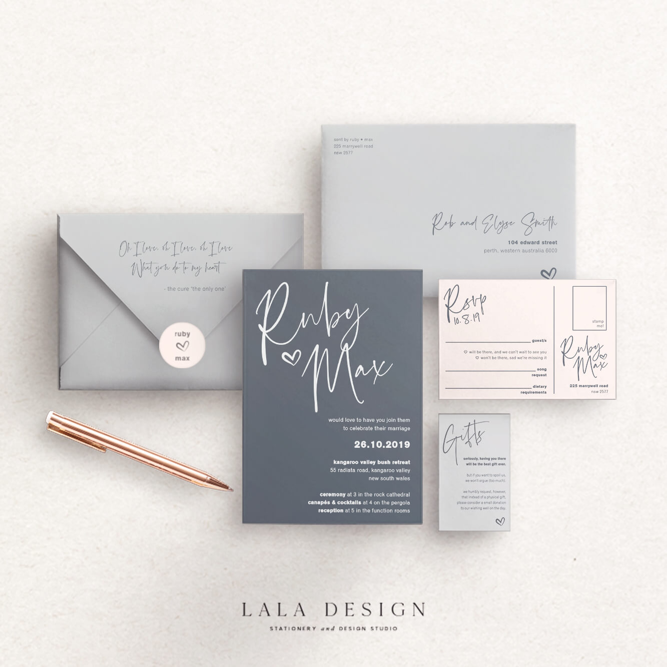 Wedding stationery full set | Thorne - Perth WA