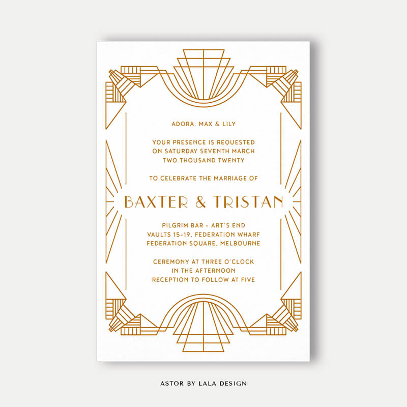 Wedding stationery full set | Astor - Perth WA