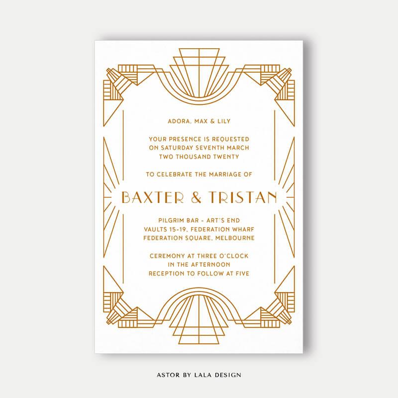 Wedding stationery full set | Astor - Perth WA