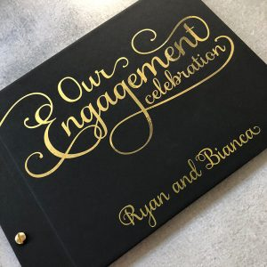 engagement guestbook-ryan and bianca- black and gold foil- by-lala-design perth-2