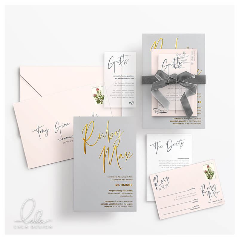 Contact Lala Design Perth | Luxury wedding stationery