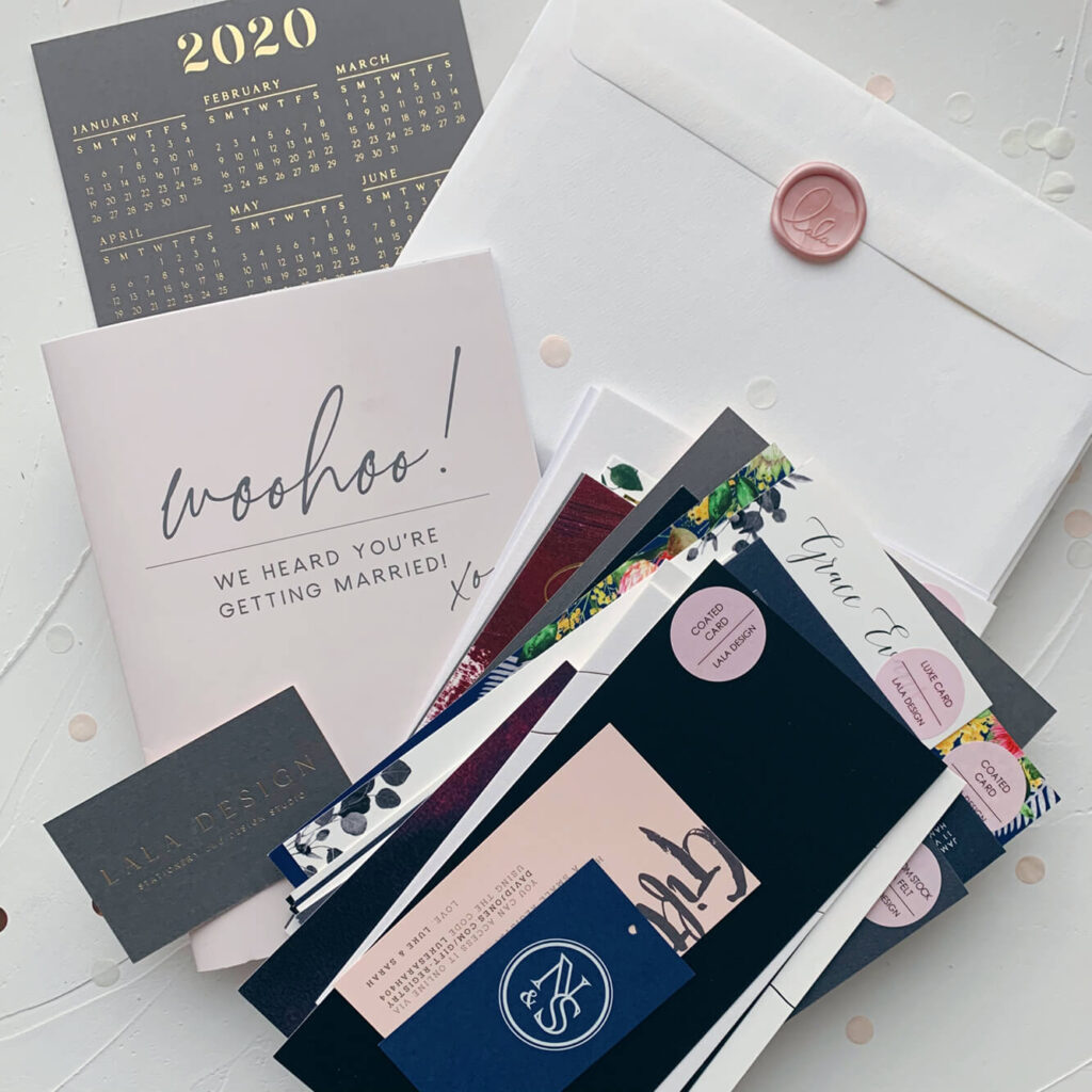 Luxury wedding stationery & invite sample pack - Perth WA