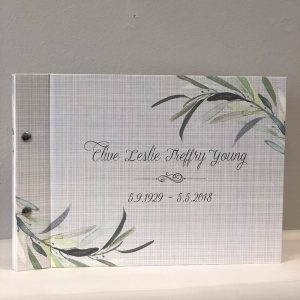 memorial guestbook-clive young-by-lala-design perth