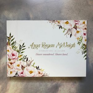 memorial guestbook-florals - arya -by-lala-design perth