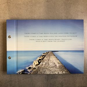 memorial guestbook-water and rocks- by-lala-design perth