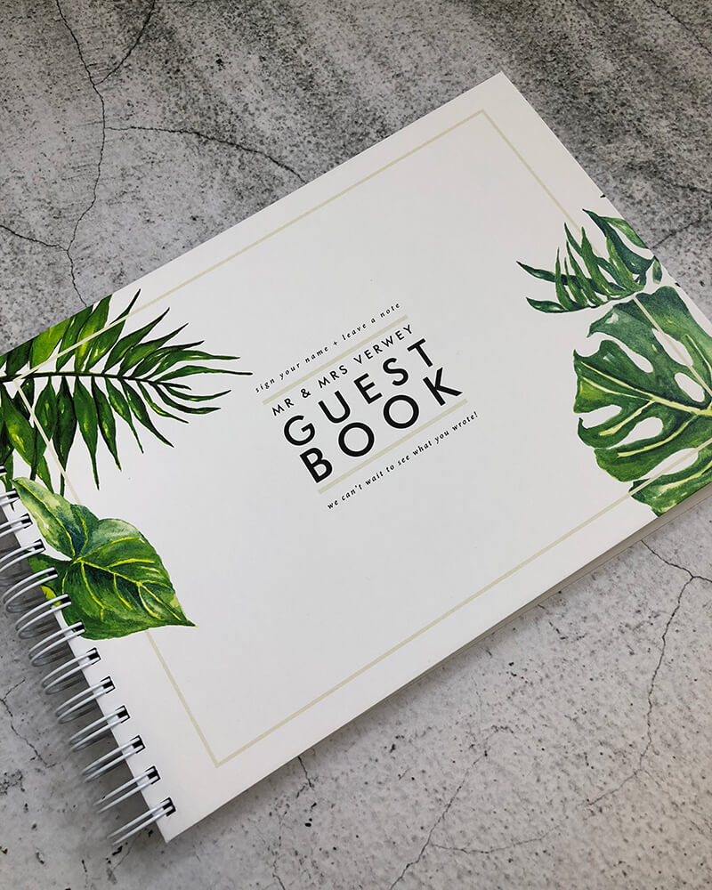 wedding engagement guestbook-palm studio design-by-lala-design perth