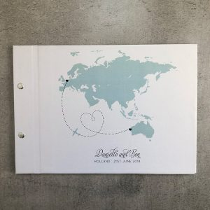 wedding guestbook-daniella and ben- by-lala-design perth
