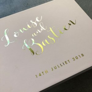 wedding guestbook-louise and bastien- blush and gold foil- by-lala-design perth (2)