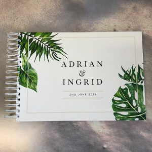wedding guestbook-palm studio-adrian and ingrid-by-lala-design perth