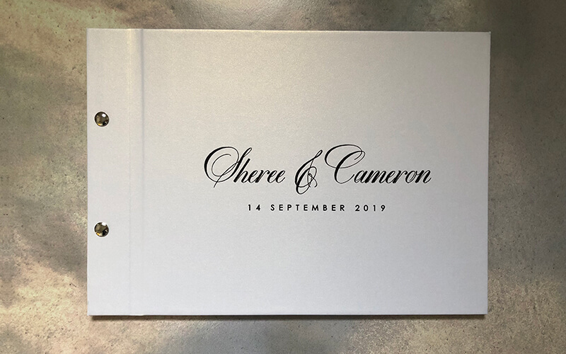 wedding guestbook-sheree and cameron -by-lala-design perth