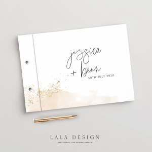 Gold Dust Guestbook | Wedding, engagement & event guestbooks | Perth WA
