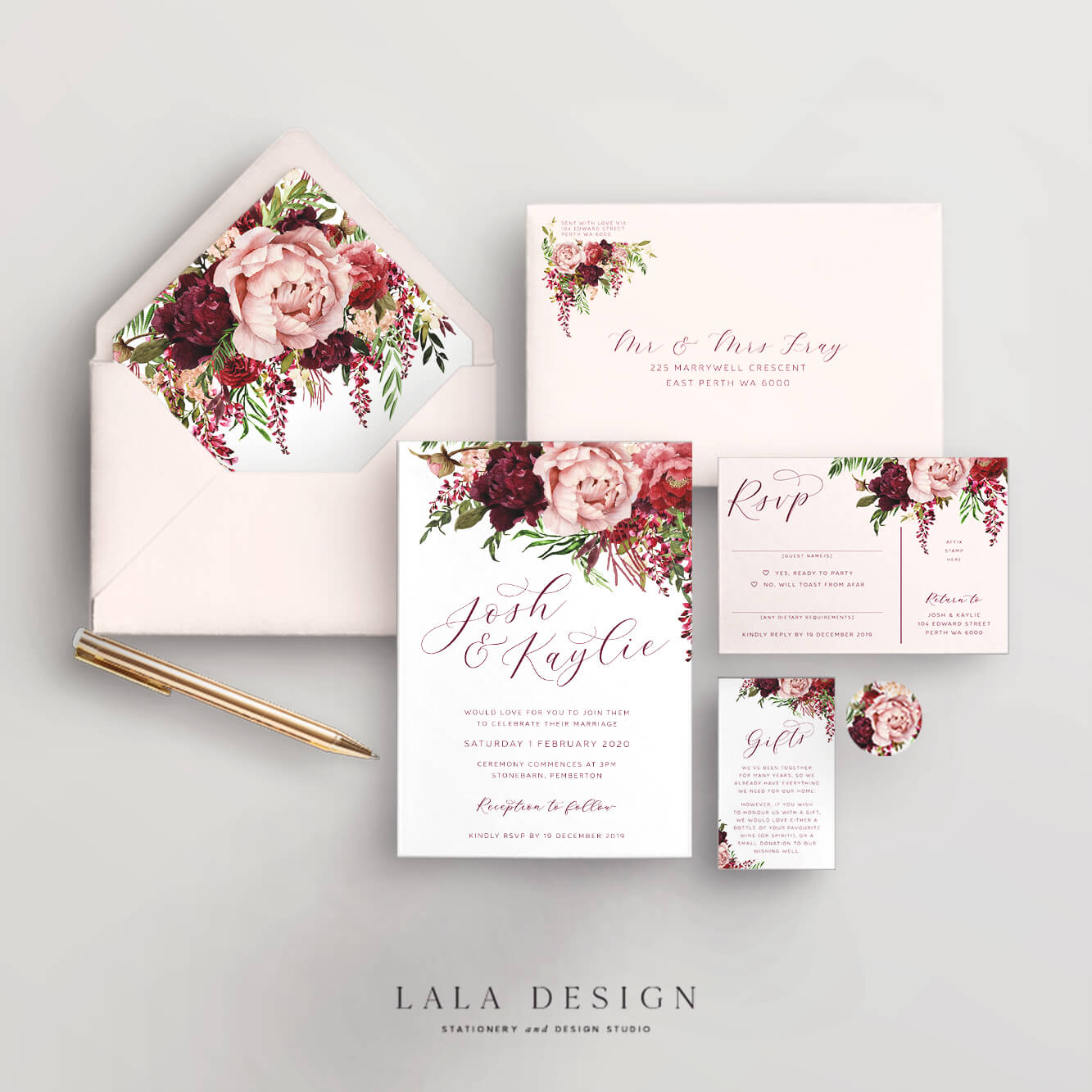 Studio Collection | Kaylie's Florals | Luxury wedding stationery - Perth WA