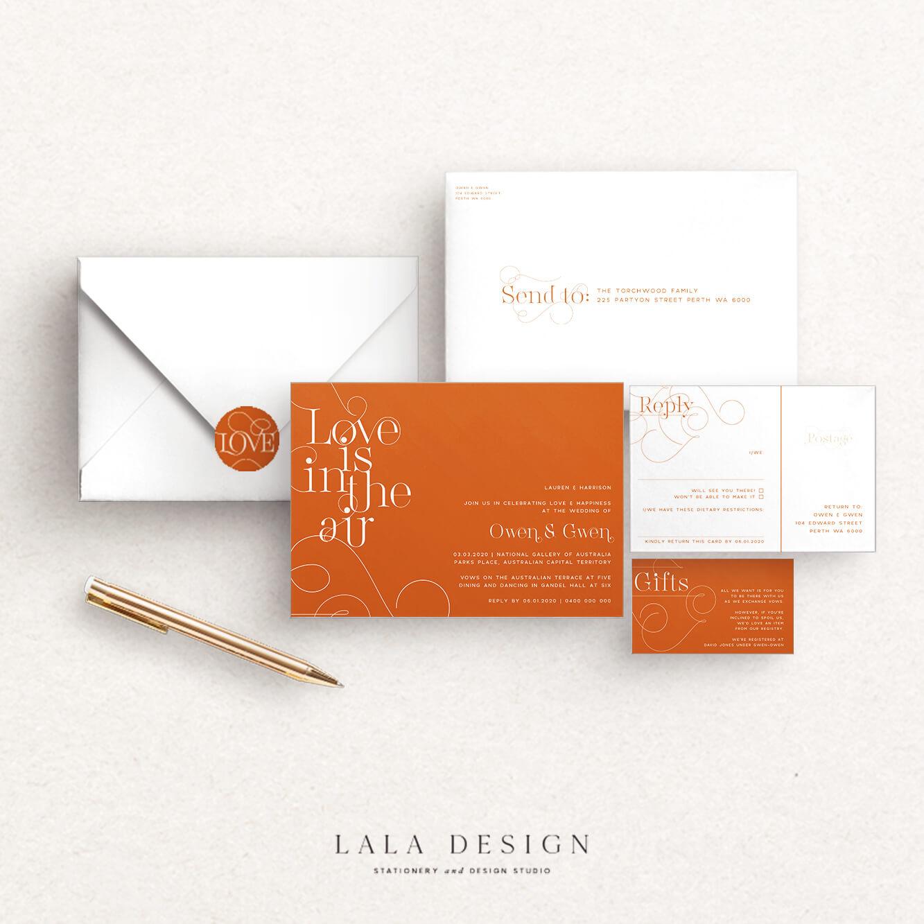 Studio Collection | Turmeric | Luxury wedding stationery Perth WA