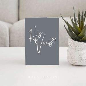 Thorne - His Vows - Custom Wedding Vow Cards & Books | Perth WA