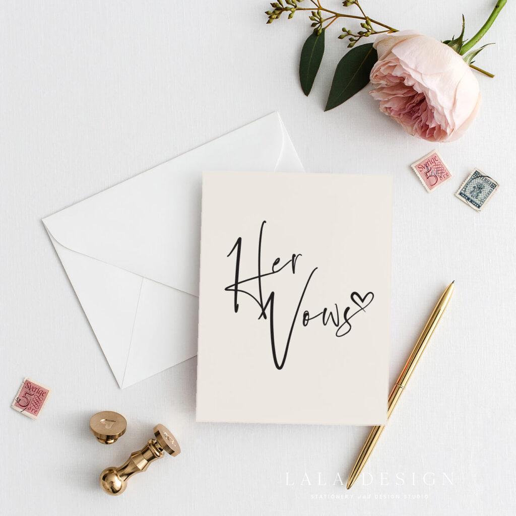 Thorne | Bride wedding vow book | Custom wedding stationery - Perth WA