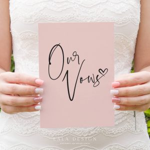 Our Vows | Custom wedding vow cards/books | Luxury wedding stationery Perth WA