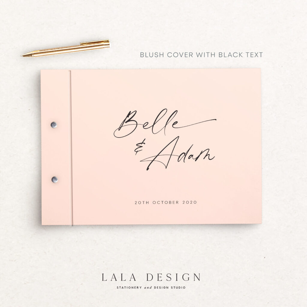 Belle Guestbook   Wedding & Engagement stationery - Perth WA