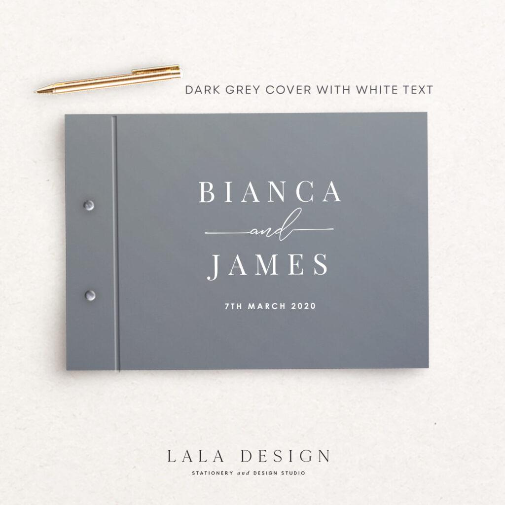 Bianca Guestbook   Wedding & Engagement stationery - Perth WA