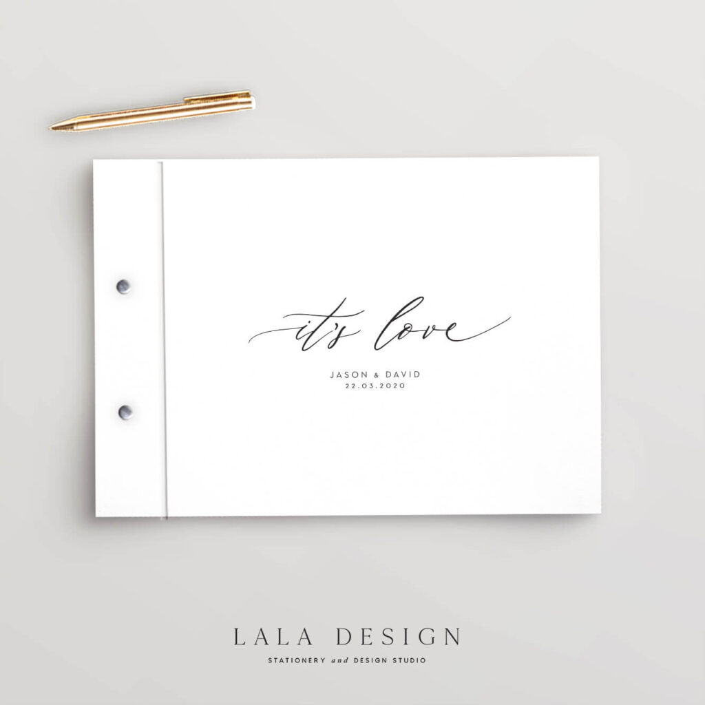 It's Love Guestbook | Wedding & Engagement stationery - Perth WA