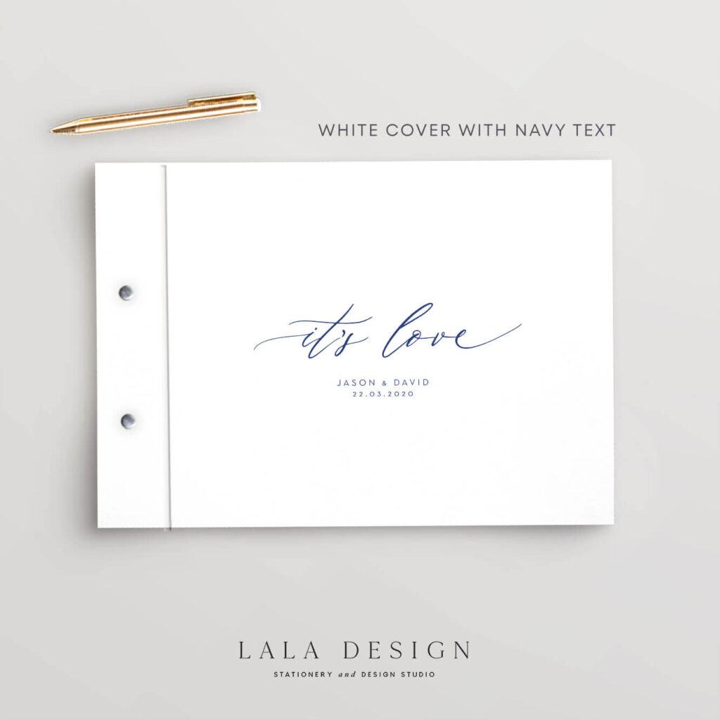 It's Love Guestbook   Wedding & Engagement stationery - Perth WA