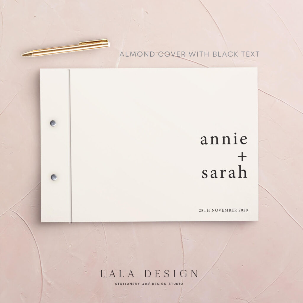 Just My Type Guestbook | Wedding & Engagement stationery - Perth WA