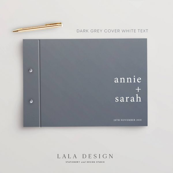 Just My Type Guestbook   Wedding & Engagement stationery - Perth WA