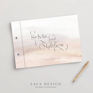 Praline Guestbook | Wedding & Engagement stationery - Perth WA