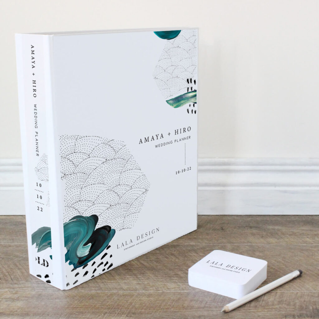 Amaya Ink Wedding Planner File - Lala Design Perth