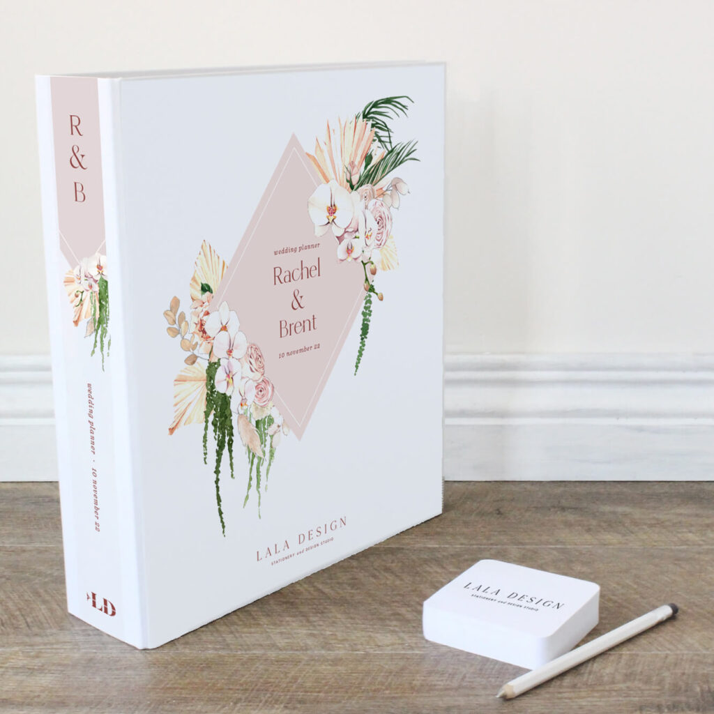 Porcelain Wedding Planner File - Lala Design Perth