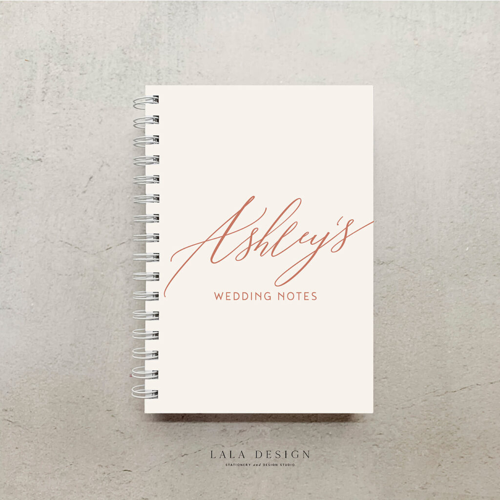 Allegra Notebook in Nude, Black & Almond | Lala Design Perth WA