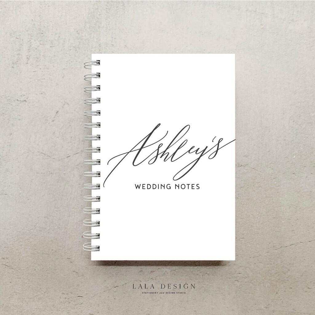 Allegra Notebook in Nude, Black & Almond | Lala Design Perth WA