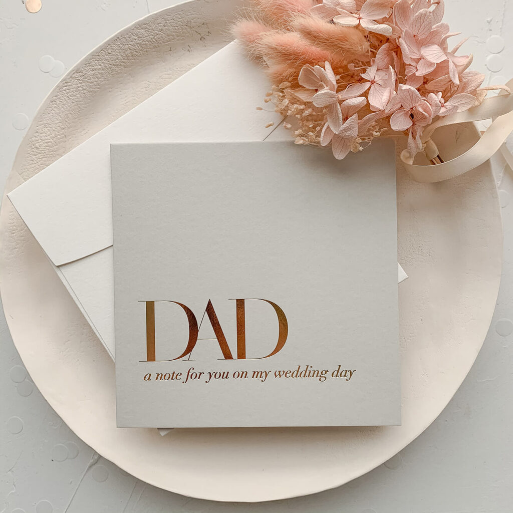 Bridal party card - For Dad on my wedding day | Lala Design Perth WA