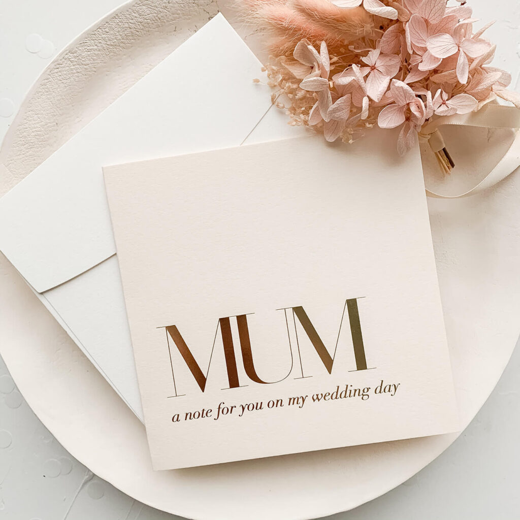 Bridal party card - For Mum on my wedding day | Lala Design Perth WA