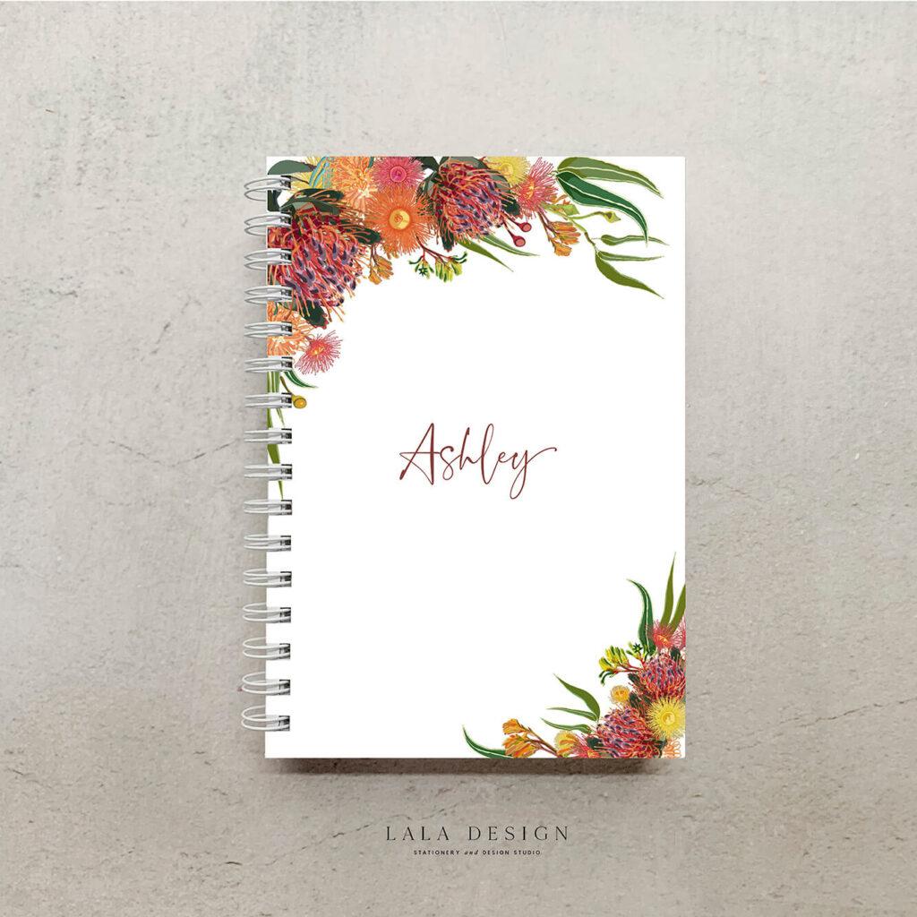 Grevillea Notebook | Custom designed & handmade notebooks - Perth WA