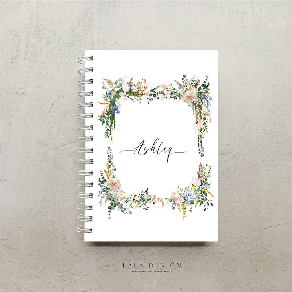 Hopes Garden Notebook | Handmade & Custom designed note books - Perth WA