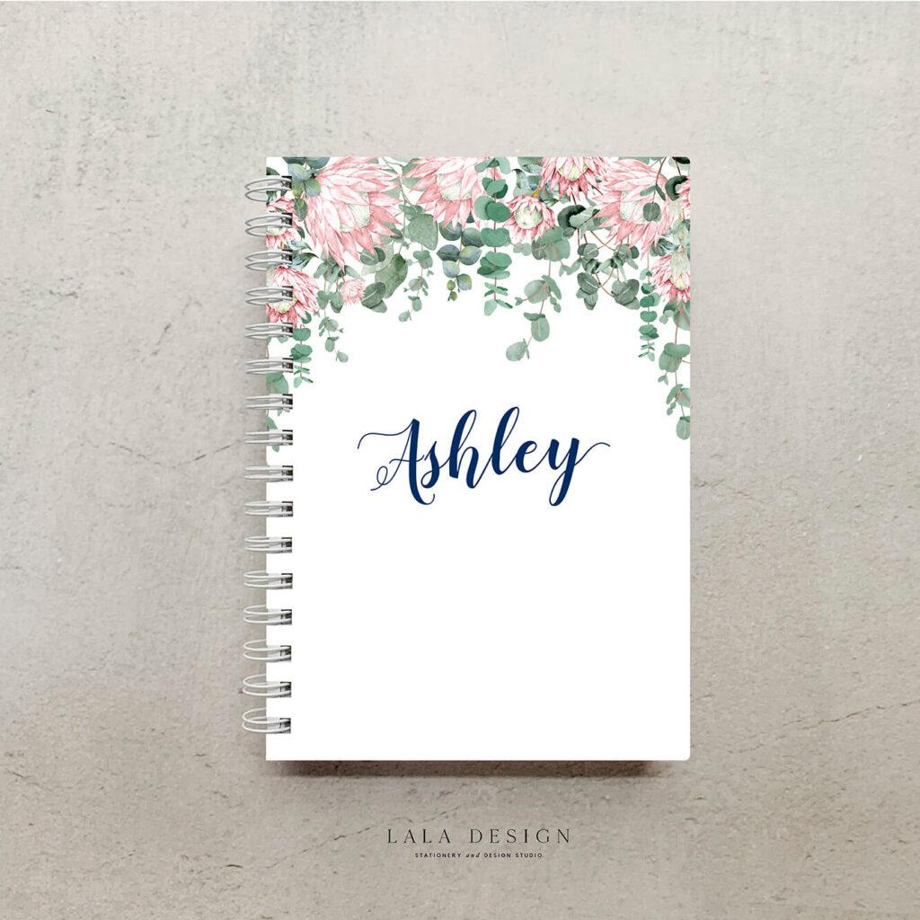 Jamies Proteas notebook | Custom made & designed notebooks - Perth WA