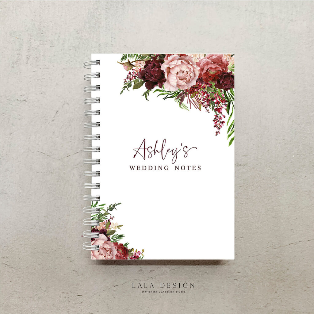 Kaylie's Florals Notebook | Custom made & designed notebooks - Perth WA