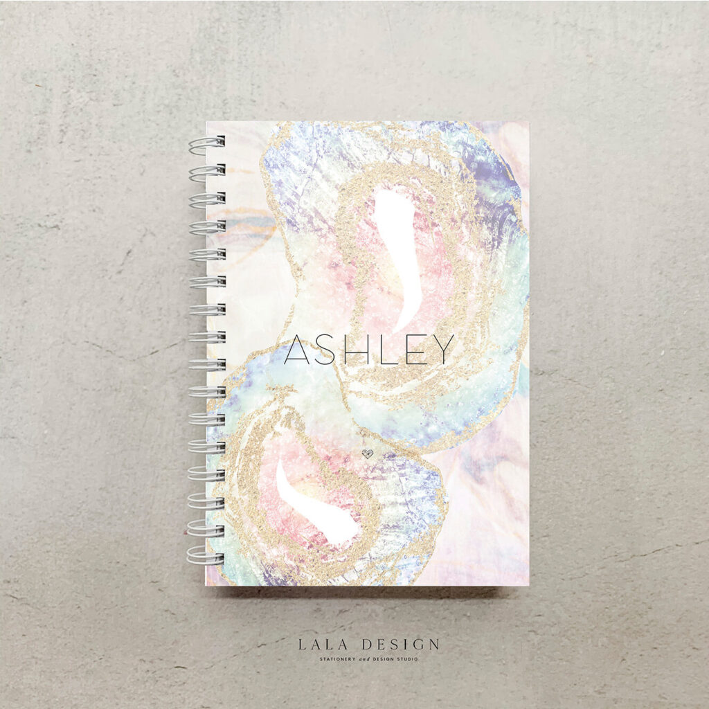 Moonstone Notebook | Customised & handmade personal notebooks - Perth WA