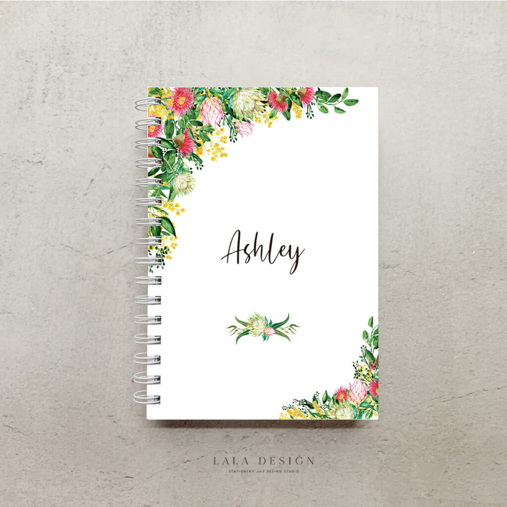 Native Bouquet Notebook | Customised & handmade note books - Perth WA