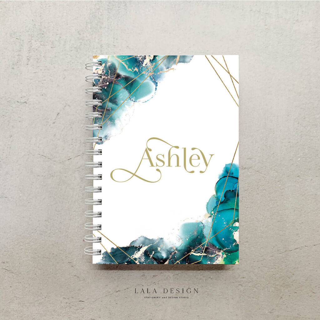 Tidal Notebook | Handmade & custom design watercolour notebook - Perth WA