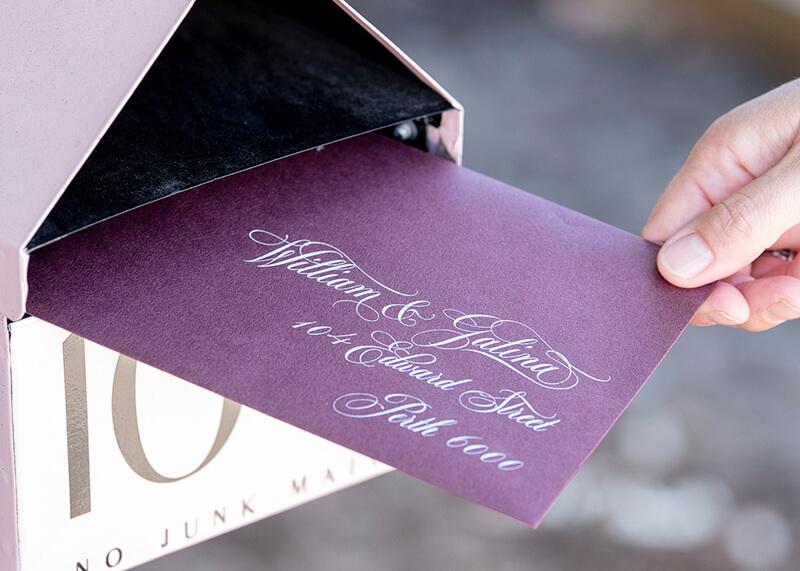 Pre-designed studio collection wedding stationery - Lala Design Perth WA