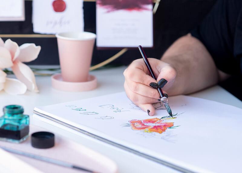 Bespoke Designed wedding stationery | Lala Design Perth WA