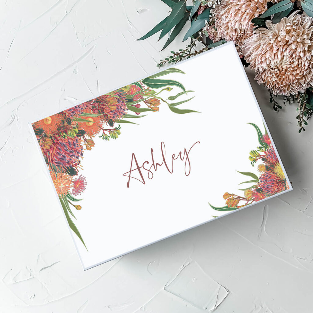 Grevillea | Personalised Floral Gift Boxes & Bridesmaid Boxes - Perth WA
